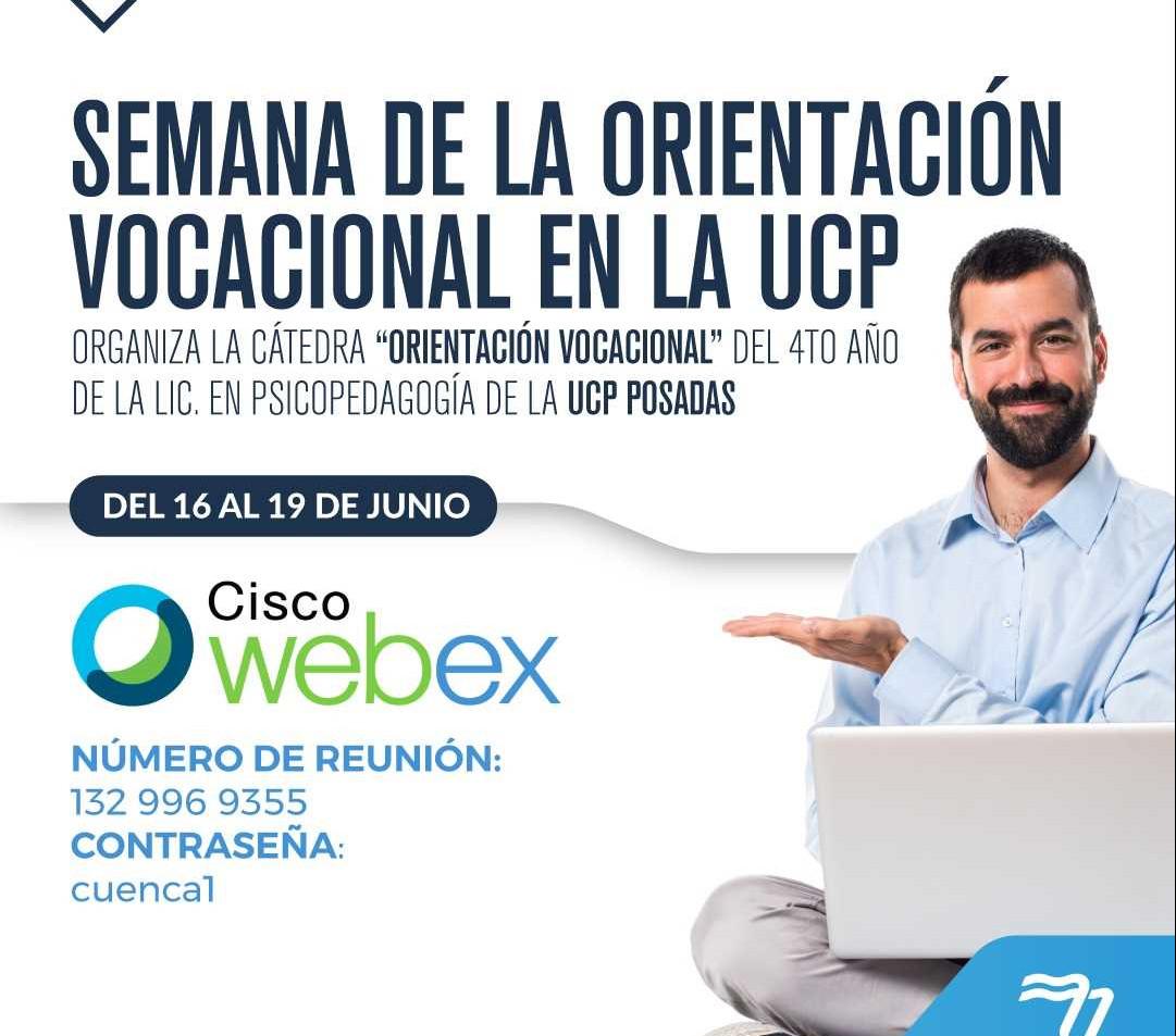 """La Universidad de la Cuenca del Plata invita a encuentros abiertos y gratuitos en el marco de la """"Semana de la Orientación Vocacional"""""""